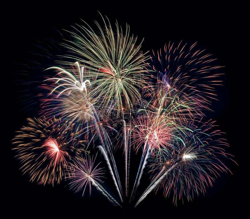 Fireworks Bouquet Royalty Free Stock Photo