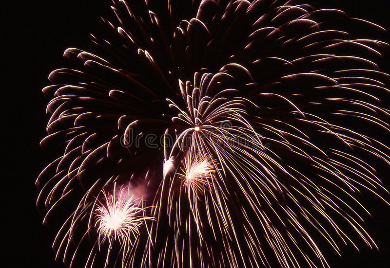Fireworks burst stock photography