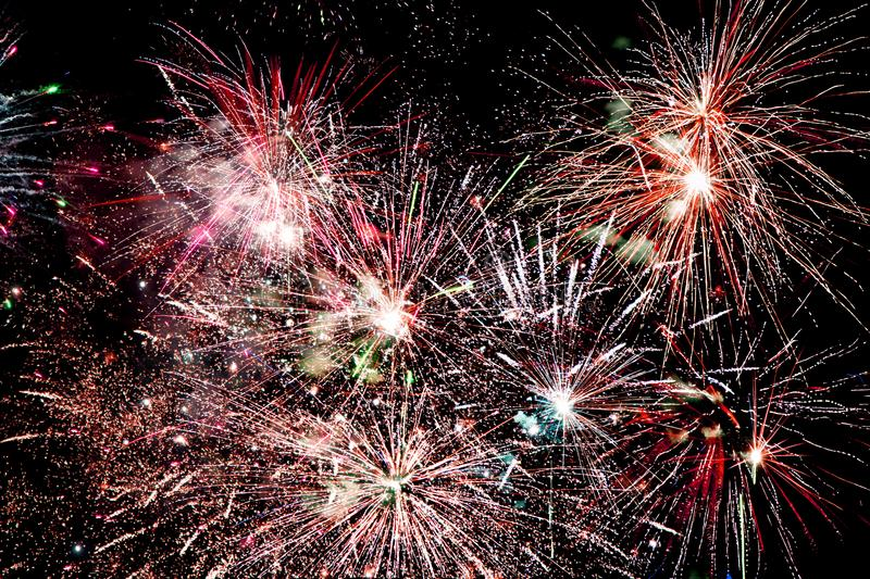 Fireworks bursting royalty free stock photography