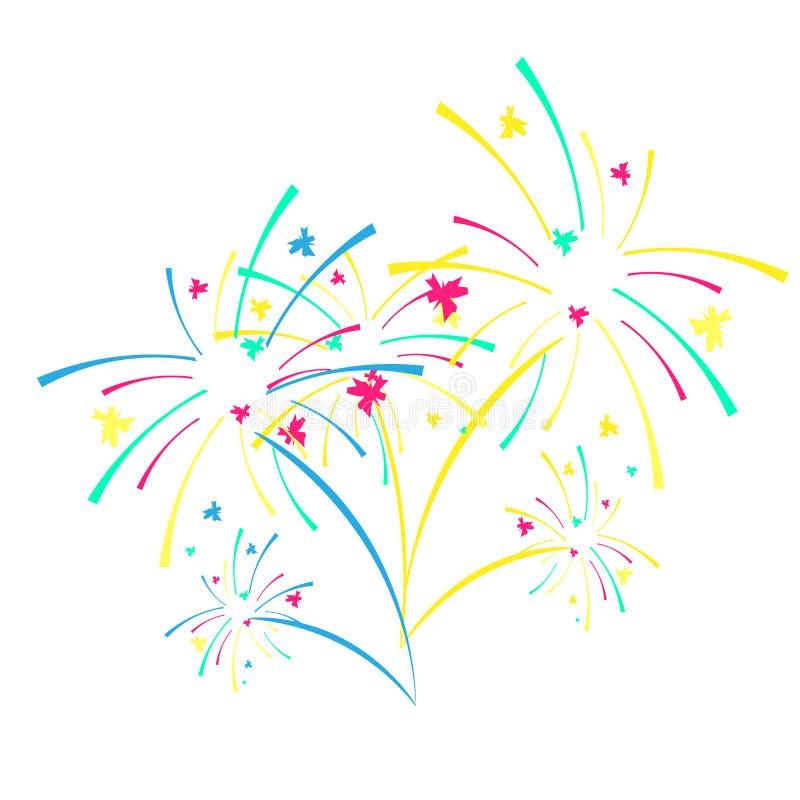 Fireworks and celebration background. Winner, victory poster, banner vector illustration