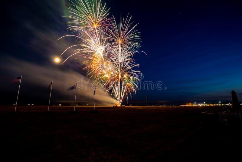 Fireworks celebration in the sky royalty free stock photo