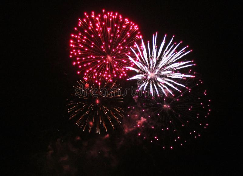 Fireworks firework display. Firework fireworks display cluster explosions stock image