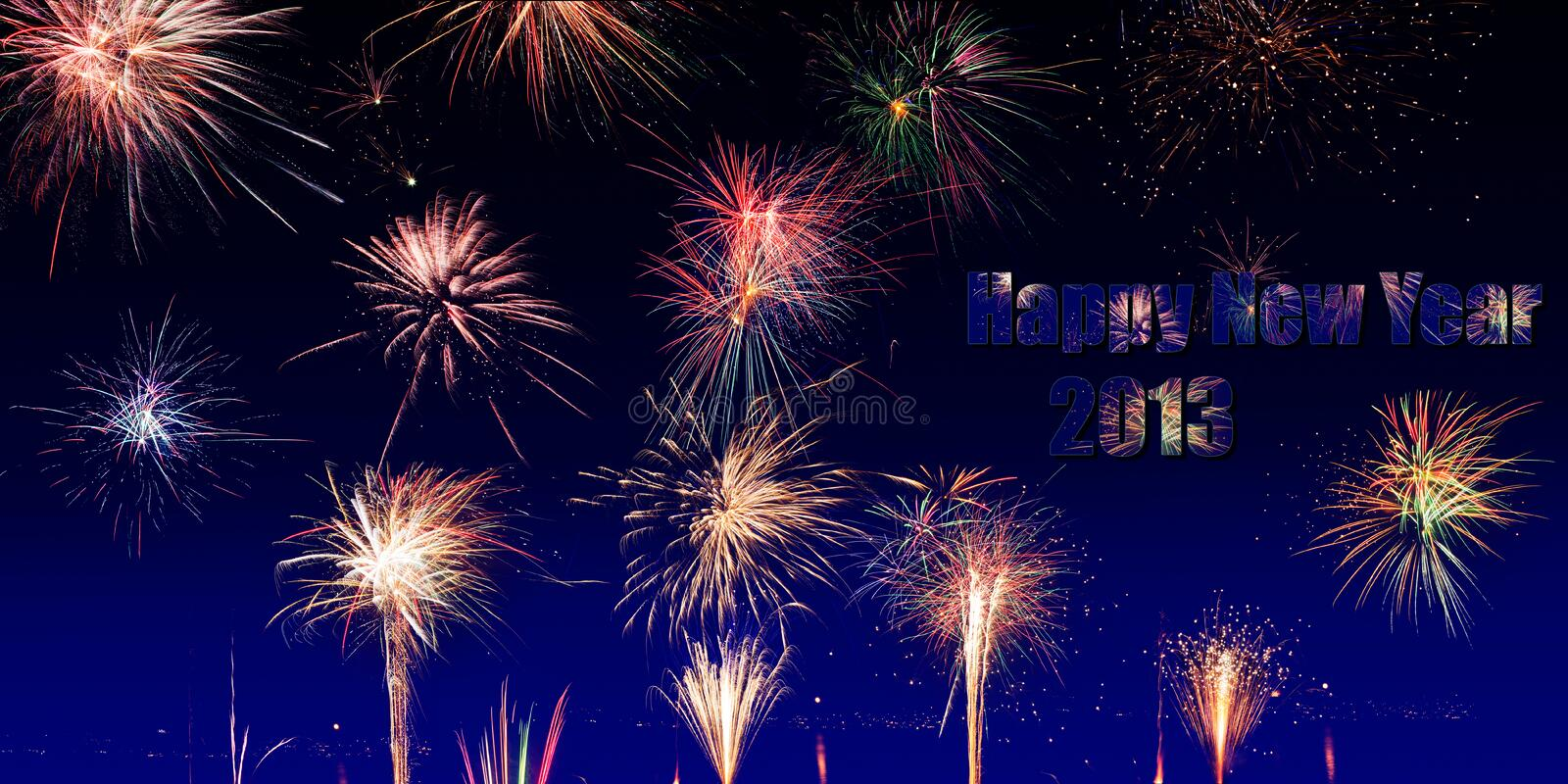 Fireworks collage stock photography