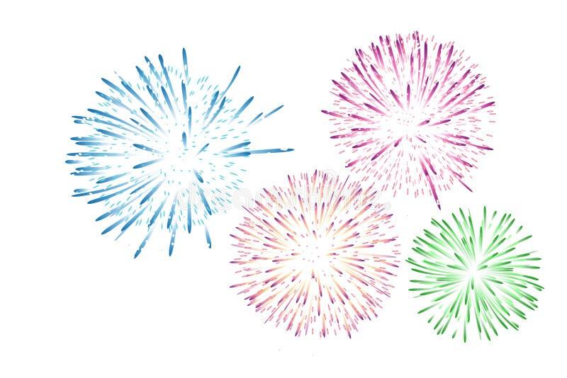 Fireworks colorful carnival background . Illustration design royalty free stock photo