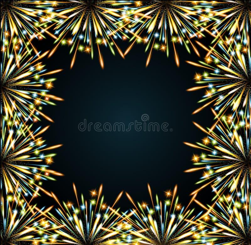 Fireworks colors frame
