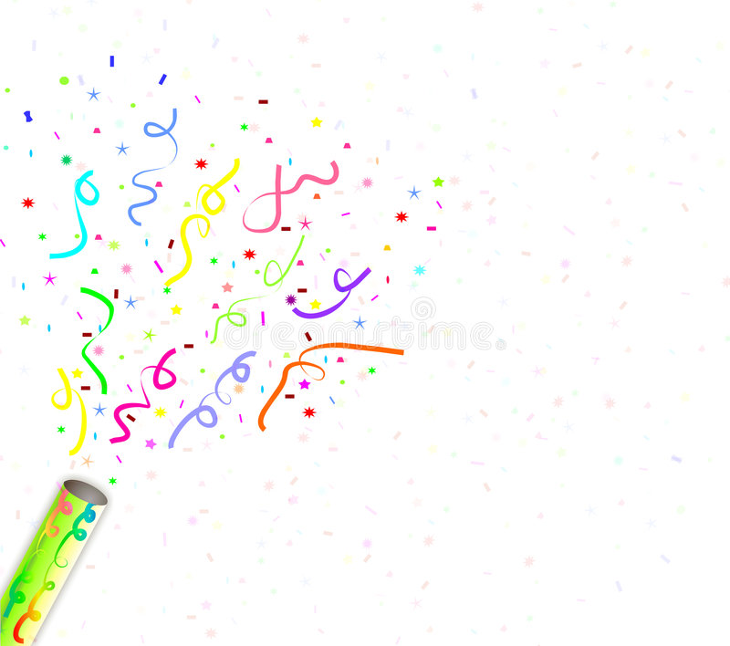 Fireworks confetti. Fireworks, confetti celebration, for birthday and party stock illustration
