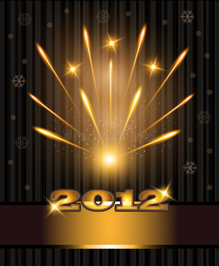 Download Fireworks Congratulations New Year 2012 Stock Photography - Image: 21612112