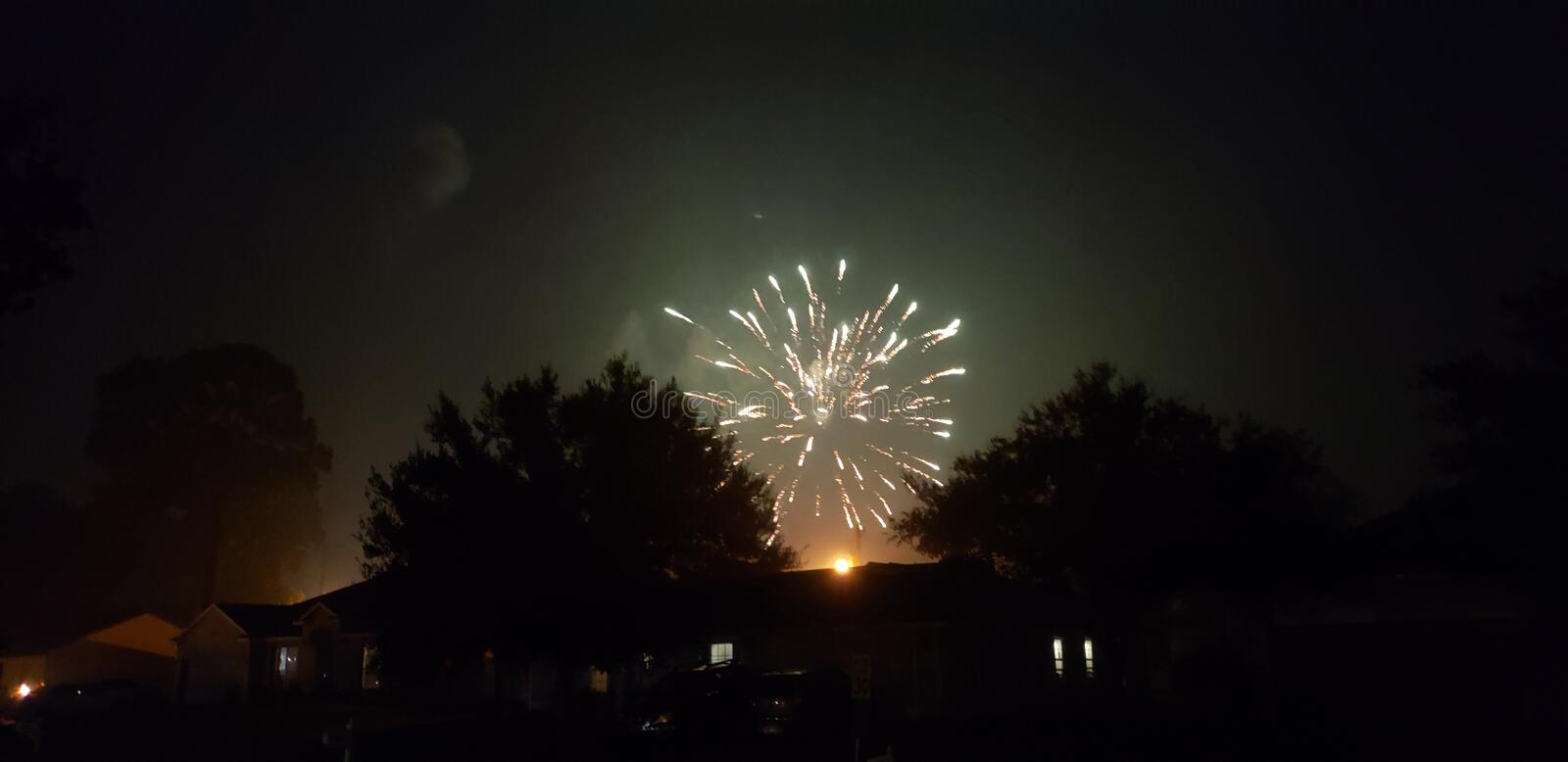 Fireworks during Covid-19 royalty free stock photos