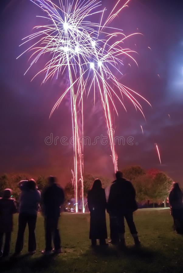 Download Fireworks Crowd Editorial Photo - Image: 37281576
