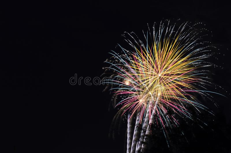 Fireworks on the 4th of July stock images