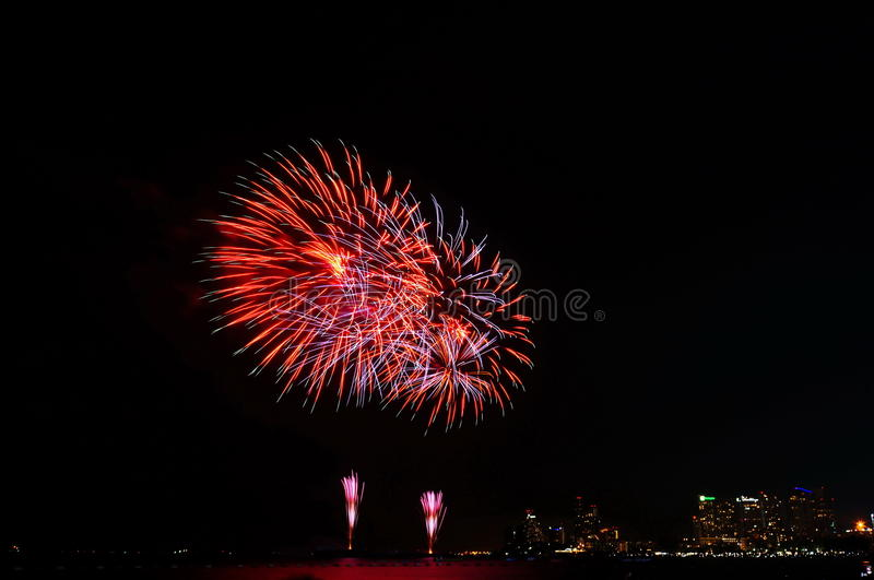 Fireworks in the dark royalty free stock photos