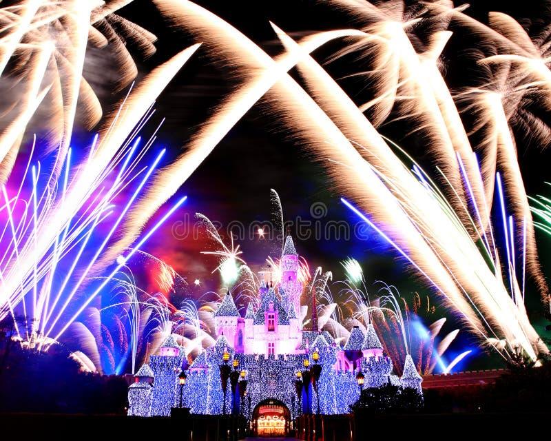 Download Fireworks in Disneyland editorial image. Image of disney - 13174295
