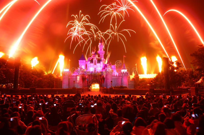 Download Fireworks at Disneyland editorial photography. Image of travel - 21869612