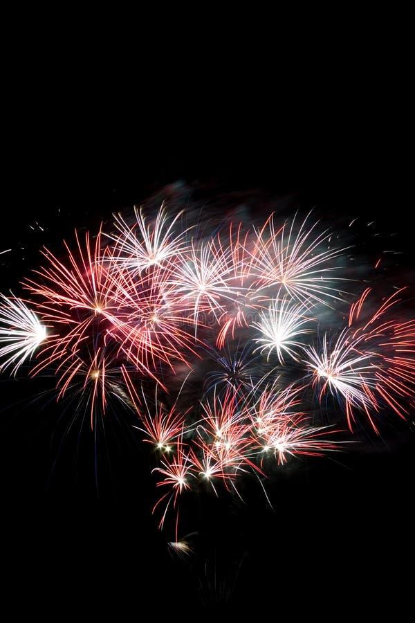 Fireworks display royalty free stock image