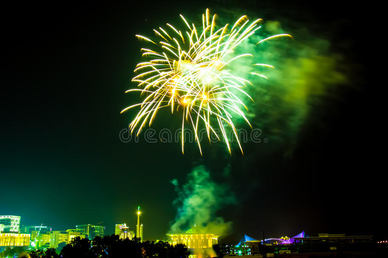 Download Fireworks display stock photo. Image of independence - 25688310