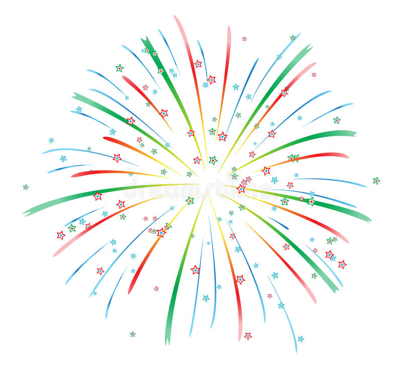 Fireworks vector stock illustration