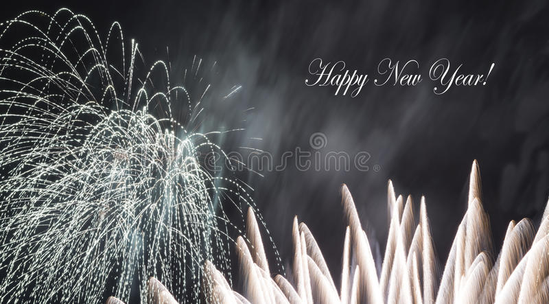 A fireworks display royalty free stock image