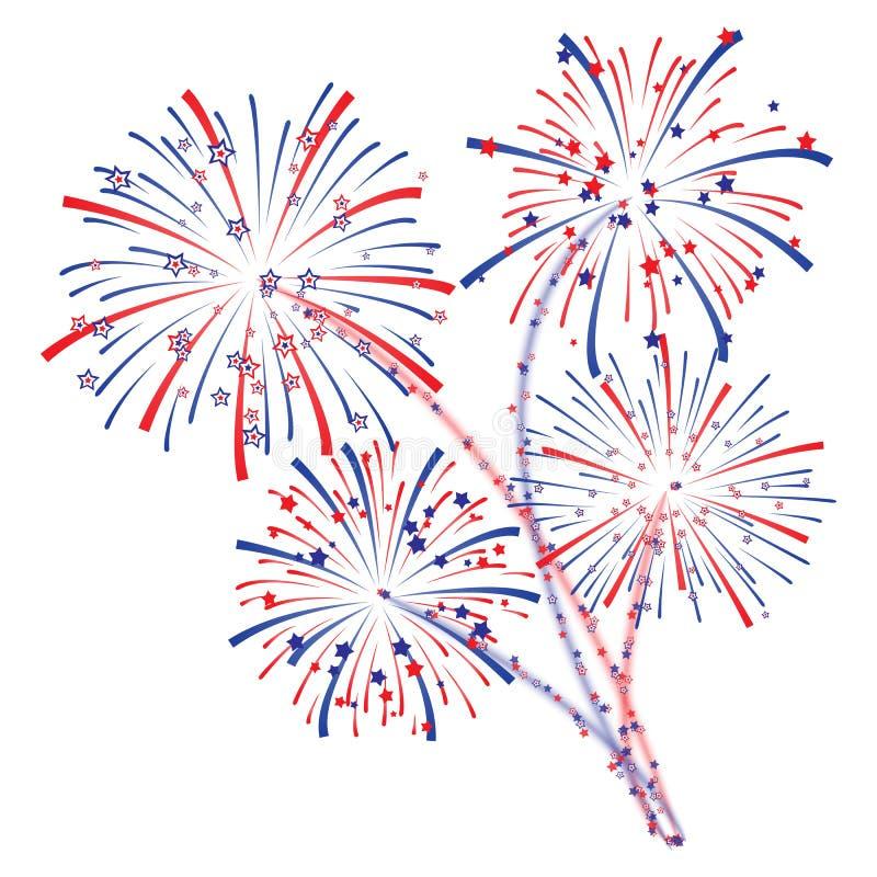 Fireworks vector stock illustration