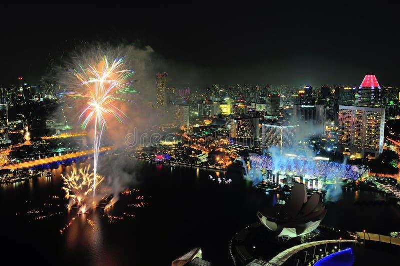 Download Fireworks Display At Marina Bay During NDP 2012 Editorial Image - Image of spark, national: 26050675
