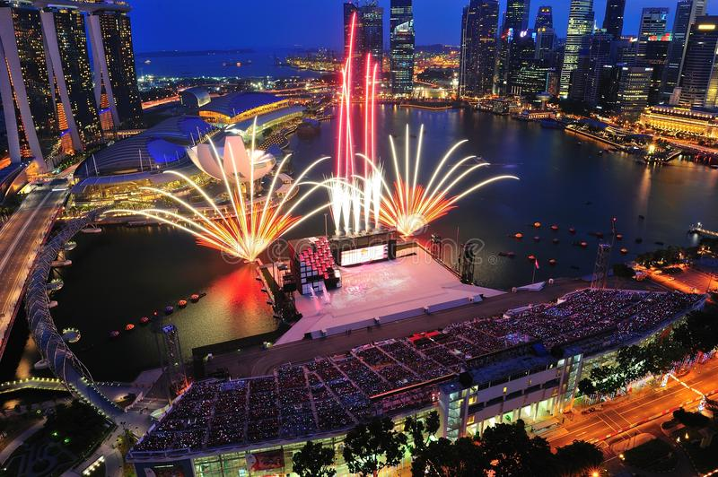 Download Fireworks Display During National Day Parade 2011 Editorial Image - Image: 20594740