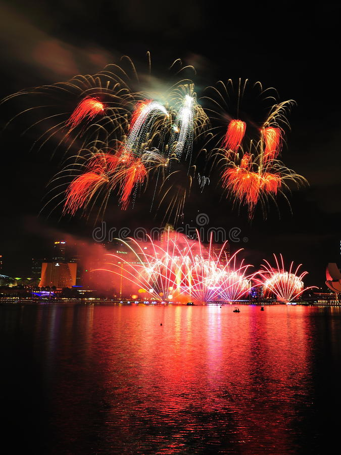 Download Fireworks Display During National Day Parade 2011 Editorial Photo - Image: 20594811