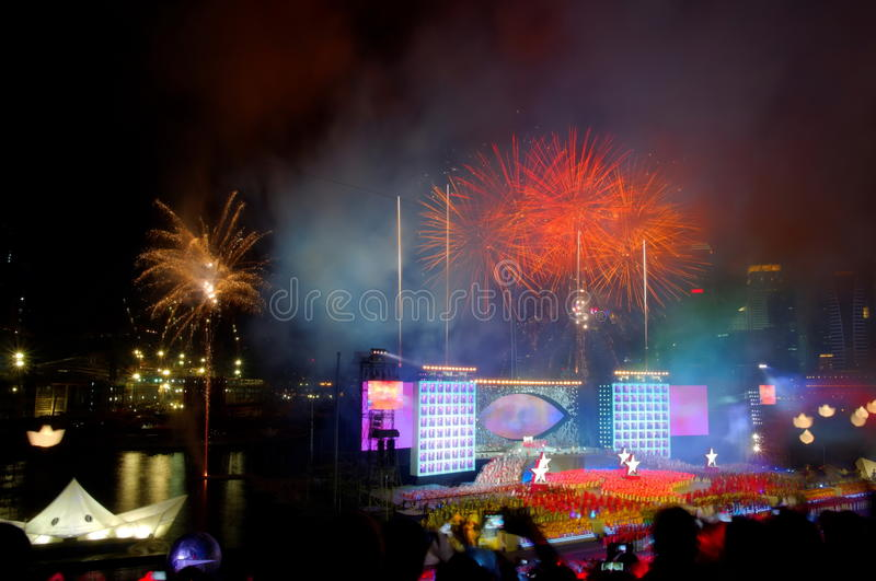 Download Fireworks Display During NDP 2009 Editorial Image - Image: 10625560