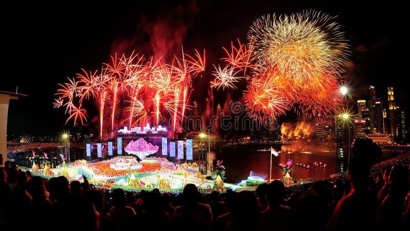 Fireworks Display During NDP 2012 Editorial Image