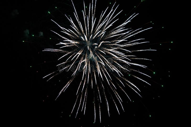 Fireworks display during the night event stock image