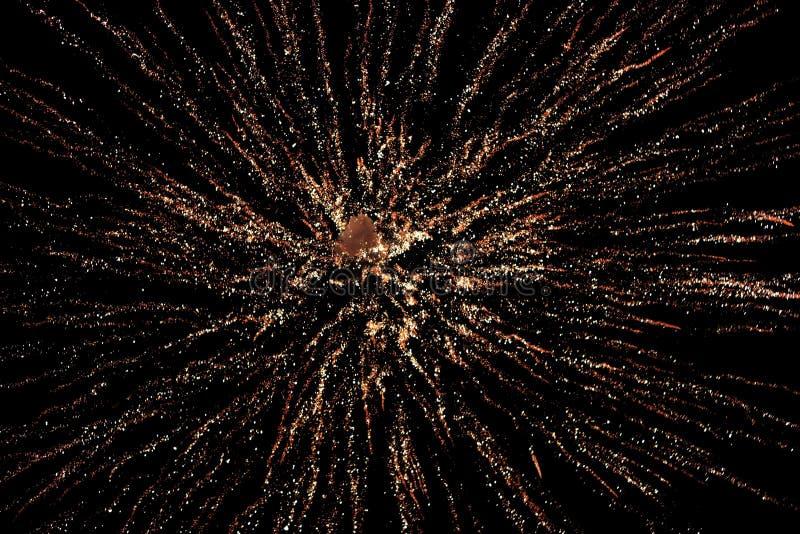 Fireworks display in sky stock photos