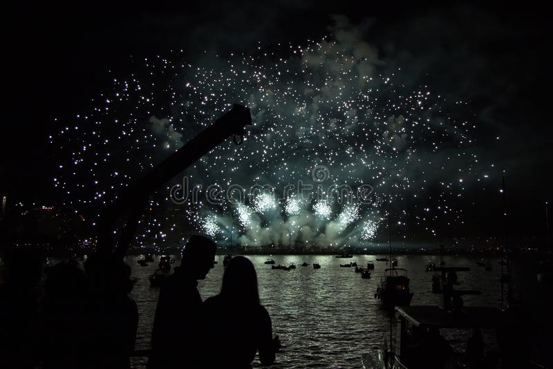 Fireworks Display. In Vancouver, Canada stock photo