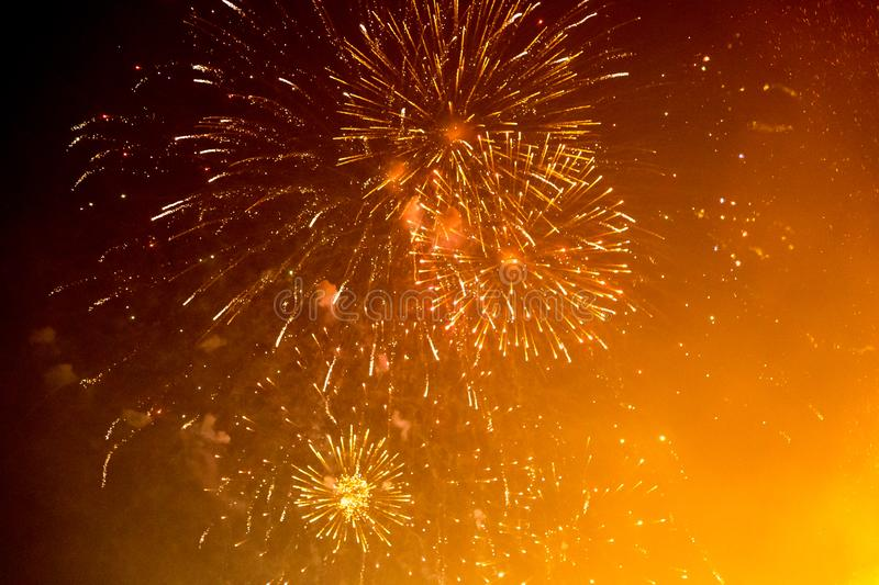 Exploding Fireworks royalty free stock images