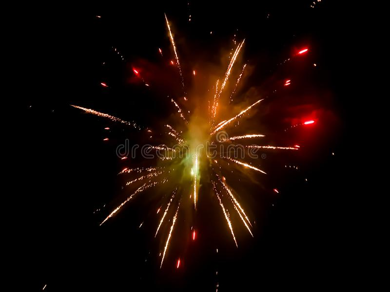 Fireworks exploding stock photography