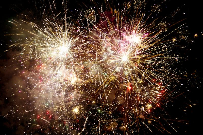 Fireworks exploding royalty free stock photo