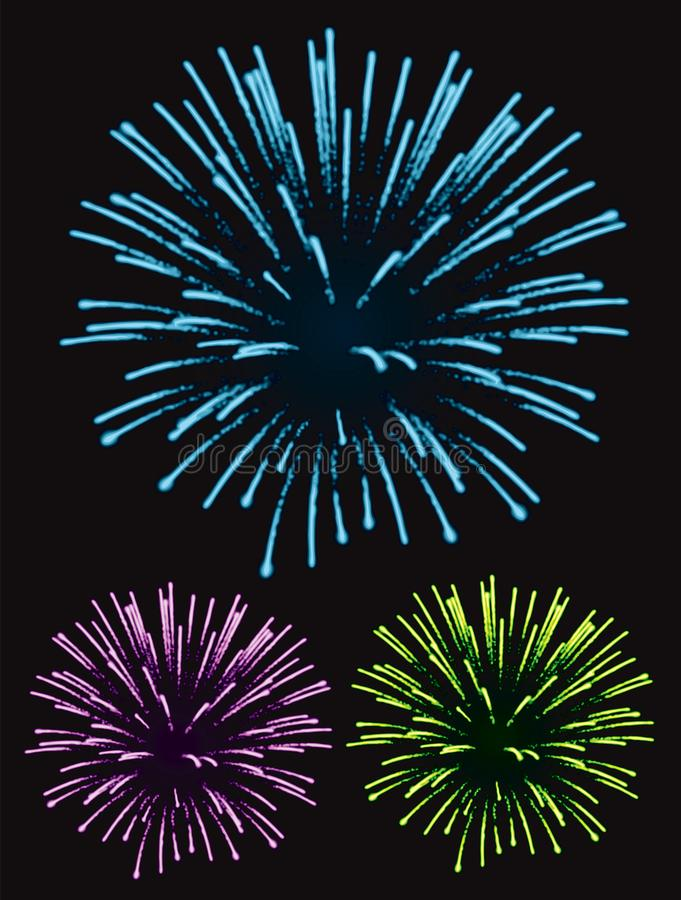 Fireworks exploding in the night sky royalty free stock photography