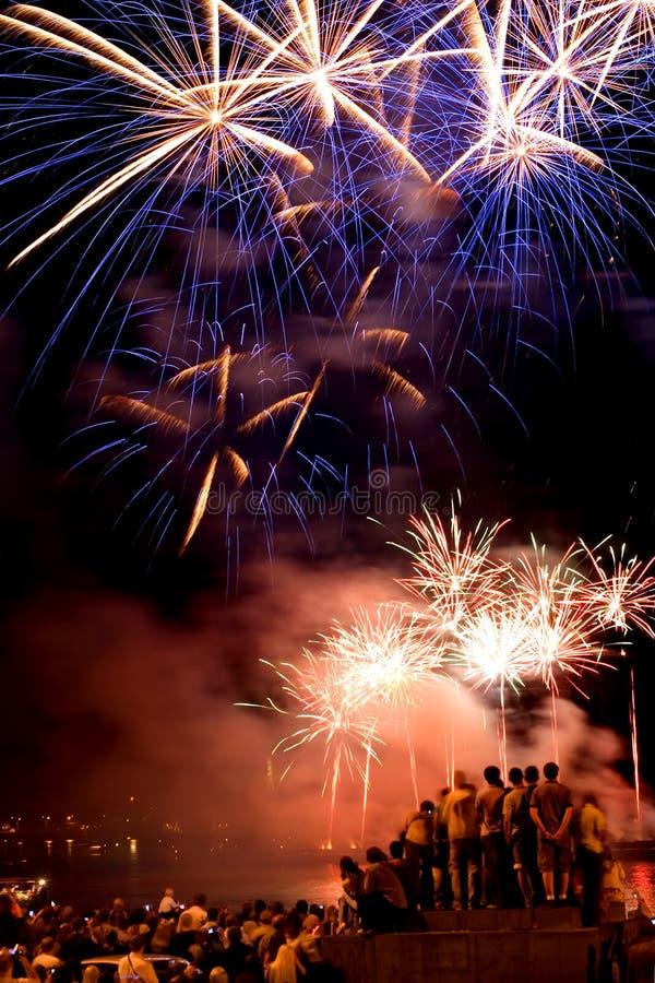 Fireworks festival stock photography
