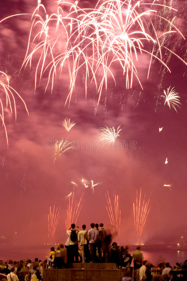Fireworks festival stock photos