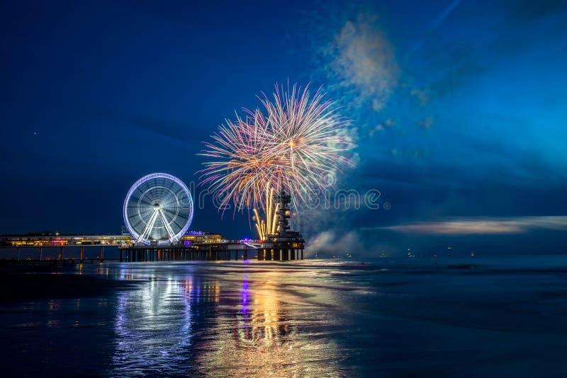 Fireworks Festival Scheveningen royalty free stock image