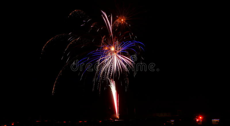 Fireworks Fill the Night Sky royalty free stock photography