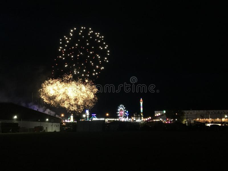 Fireworks. At stampede royalty free stock photo