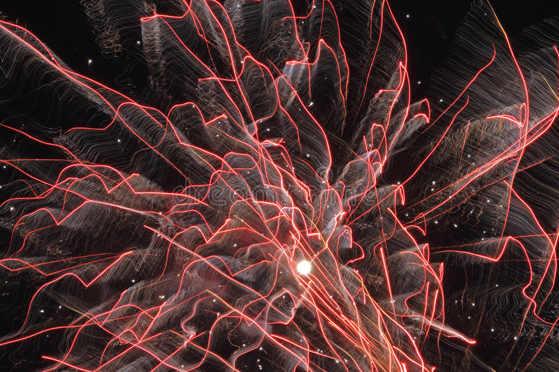 Fireworks' Footprints royalty free stock images
