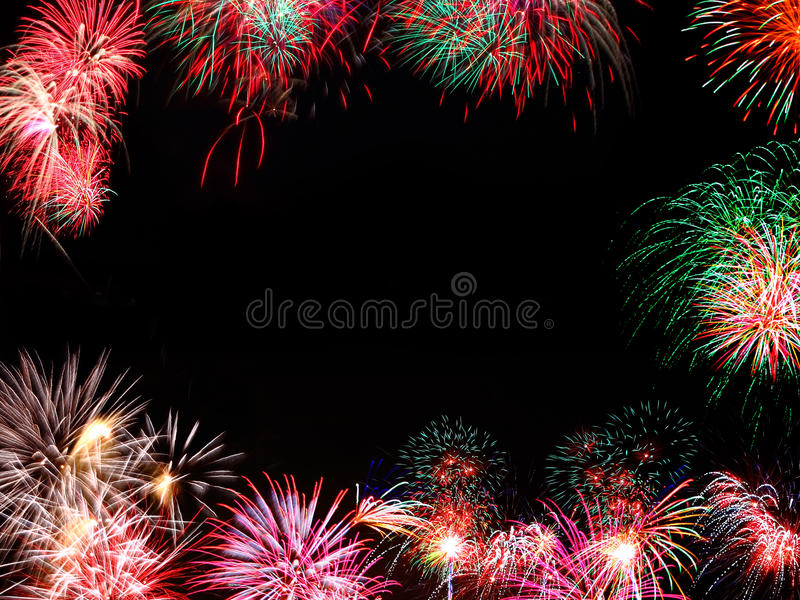 Fireworks frame royalty free stock photography