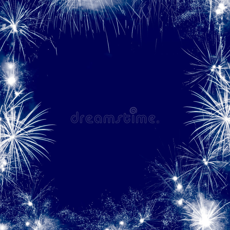 Fireworks frame. Image frame made with fireworks. Different shapes stock photography