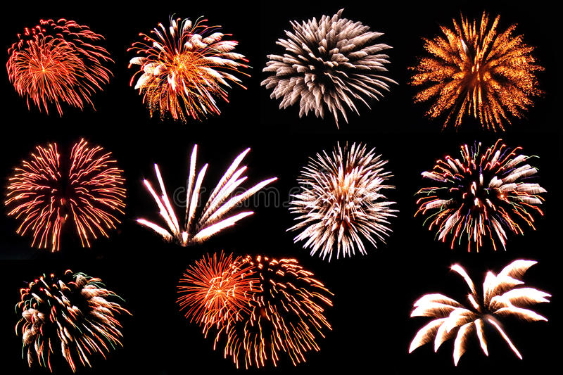 This is fireworks. Gallery in new year stock photography