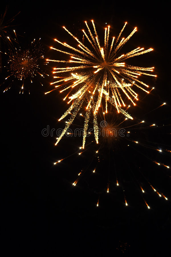Fireworks with gold and red royalty free stock images
