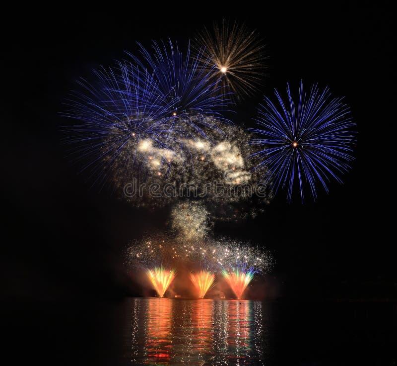 Fireworks. Great celebration of ignis brunensis royalty free stock image