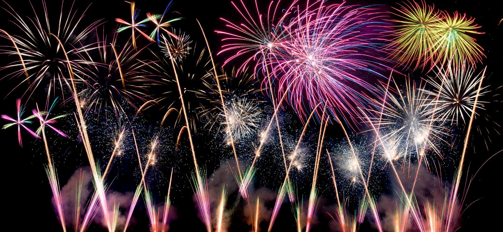 Download Fireworks stock photo. Image of multicolour, night, background - 44019956