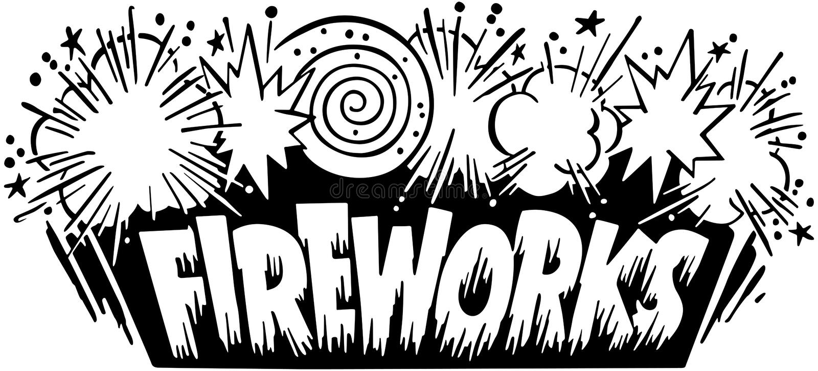 Fireworks Header vector illustration