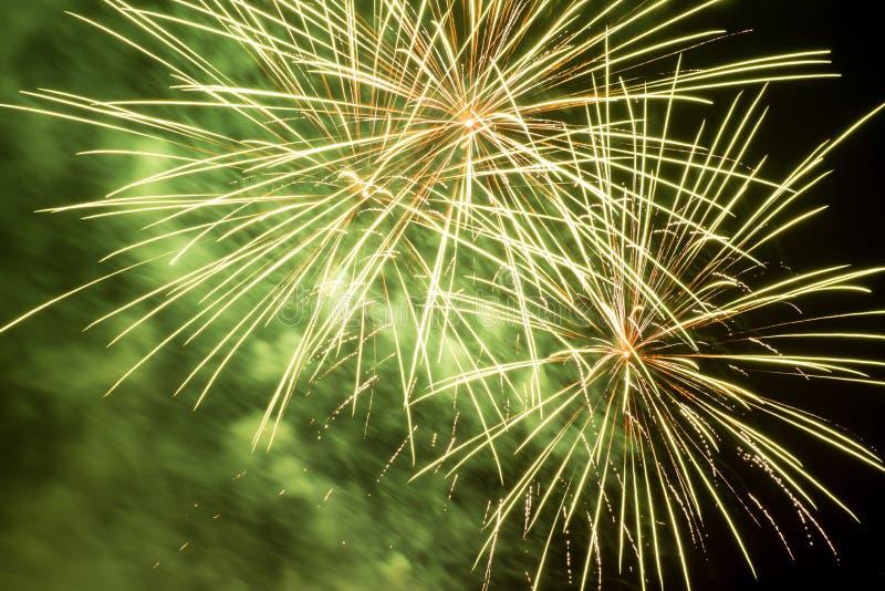 Fireworks. In Heidelberg, Old Bridge, Germany royalty free stock images