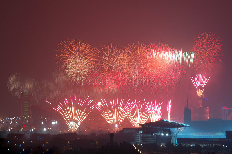 Download Fireworks Highlight Beijing Olympics Opening Cerem Editorial Stock Image - Image: 6164364