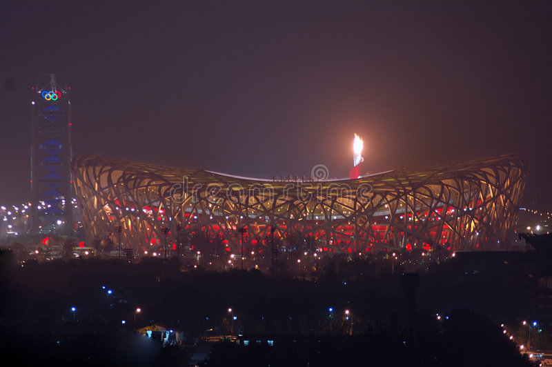 Download Fireworks Highlight Beijing Olympics Opening Cerem Editorial Stock Photo - Image of national, architecture: 6164738